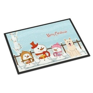 Carolines Treasures BB2376MAT Merry Christmas Carolers White German Shepherd Indoor or Outdoor Mat 18 x 0.25 x 27 in.