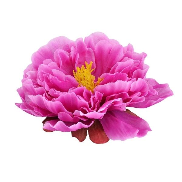Living Room Fabric Artificial Peony Flower Head DIY Handmade Petal Decor Purple