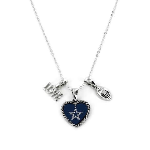 Dallas Cowboys Necklace Charmed Sport Love Football