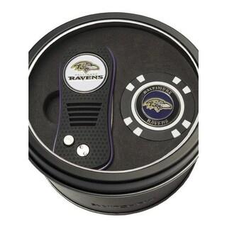 Team Golf 6375563 Baltimore Ravens Tin Set - Switchfix, Golf Chip