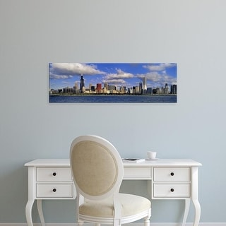 Easy Art Prints Panoramic Image 'USA, Illinois, Chicago, Panoramic view of an urban skyline by the shore' Canvas Art