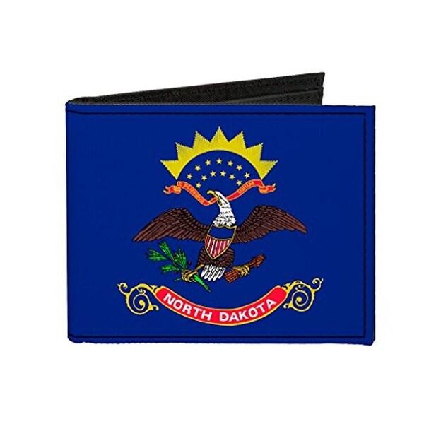 Buckle-Down Canvas Bi-fold Wallet - North Dakota Flag Accessory
