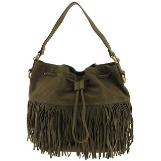 Fossil Womens Jules Satchel Handbag Leather Fringe - LARGE