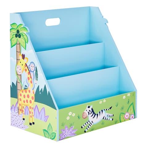 Fantasy Fields Sunny Safari Vertical Bookshelf, Blue, Green - 18.5 x 11.63 x 18.75