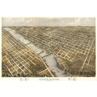 Grand Rapids, Michigan - (1868) - Panoramic Map (Playing Card Deck - 52 Card Poker Size with Jokers)