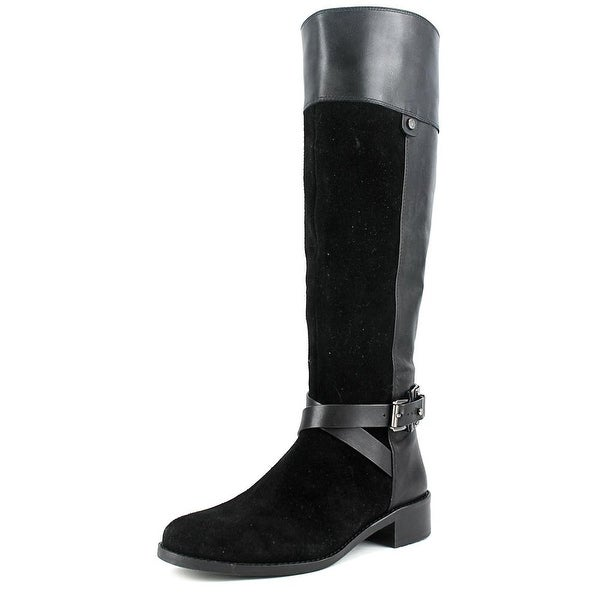 Vince Camuto Jaran Women Round Toe Leather Black Knee High Boot