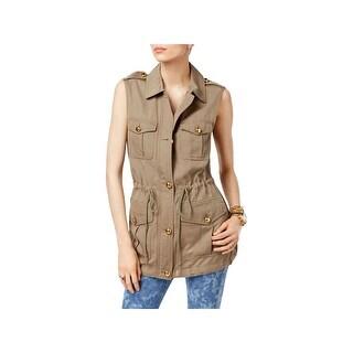 MICHAEL Michael Kors Womens Casual Vest Cargo Utility