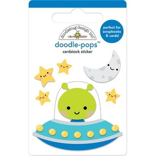 Doodlebug Doodle-Pops 3D Stickers-Out Of This World