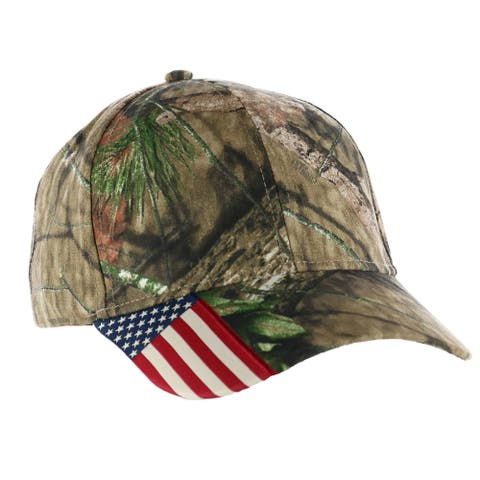 Outdoor Cap Camouflage with Side American Flag Baseball Hat