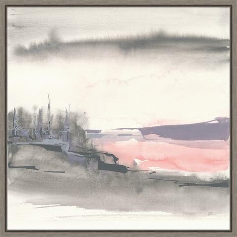 Canvas Art Framed 'Blush Valley I' by Chris Paschke 16 x 16-inch