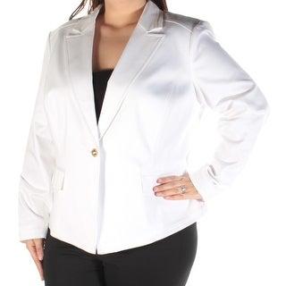 Womens White Wear To Work Blazer Jacket Size 16