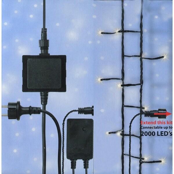 Connect 24V LED Starter Kit - Transformer, Controller and 4 Sets of Christmas Lights - Warm Clear