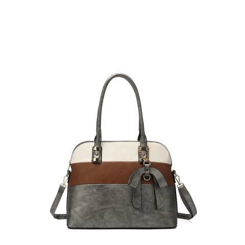 Style Strategy Multi-Color Satchel Bag with