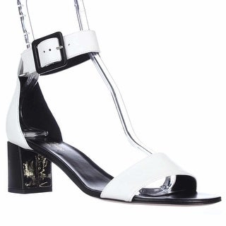 Kate Spade Melina Ankle Strap Sandals - White Leather