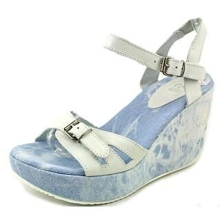 Coolway Gacela Open Toe Leather Wedge Sandal