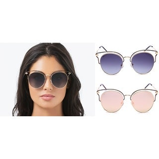 PRIVÉ REVAUX The Heartbreaker Handcrafted Designer Cat-Eye Polarized Sunglasses For Women