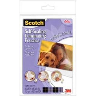 """4""""X6"""" - Scotch Self-Sealing Laminating Pouches 5/Pkg"""