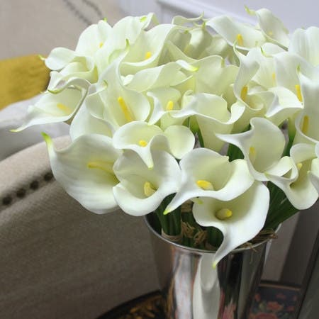 Shop Floralgoods Real Touch 9 Calla Lily Bouquet In White 13 Tall