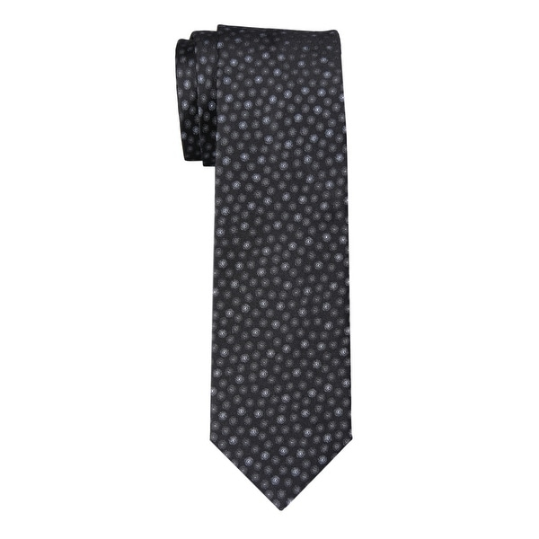 7b3b066fbd Shop YSL YVES SAINT LAURENT Dotted Silk Tie Black / Grey Necktie Made In  France - Free Shipping Today - Overstock - 14357832