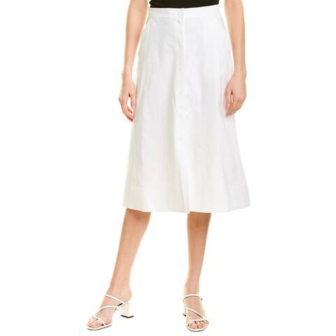 A.L.C. Jayce Linen-Blend A-Line Skirt