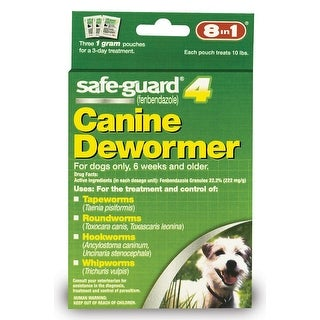 8 in 1 Safeguard 4 Canine Dewormer for Small Dogs 1gm