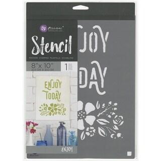 "Enjoy - Prima Marketing Stencil 8""X10"""
