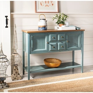 """Link to Safavieh Brighton French Blue Finish Storage Sideboard - 45.7"""" x 15"""" x 34"""" Similar Items in Dining Room & Bar Furniture"""