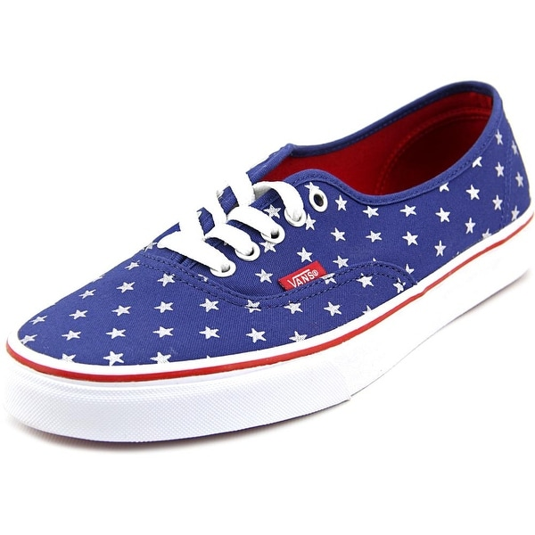 Vans Authentic Women (Studded Stars) Red/Blue Sneakers Shoes