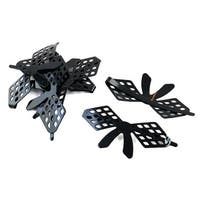 Lady Metal Bowknot Design Single Prong Clip Hairclip Hair Bobby Pin Black 6 PCS