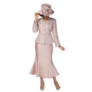 Giovanna Collection Women's 2-pc Peplum Jacket & Flare Skirt Suit