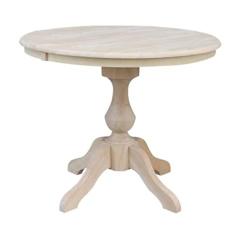 The Gray Barn Fairy Glen 36-in. Round Pedestal Table w/ 12-in. Leaf