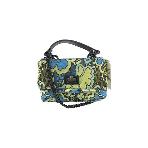 Steve Madden Brocade Top-handle Mini Crossbody Bag Blue/Yellow