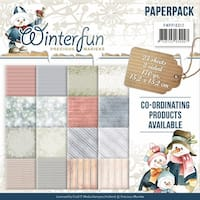"Find It Trading Precious Marieke Paper Pack 6""X6"" 23/Pkg-Winterfun, Double-Sided Designs"