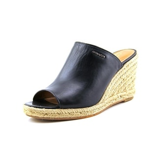 Coach Gayle Women Open Toe Leather Wedge Sandal