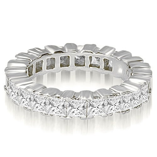 6.80 cttw. 14K White Gold Princess Prong Diamond Eternity Ring