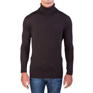 Valentino Men's Turtleneck Sweater Dark Brown