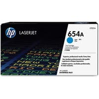 HP 654A Cyan Original LaserJet Toner Cartridge (CF331A)(Single Pack)