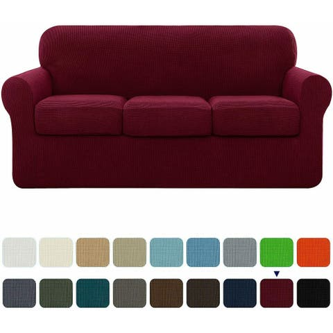 Subrtex Slipcover Stretch Sofa Cover with Separate Cushion Cover