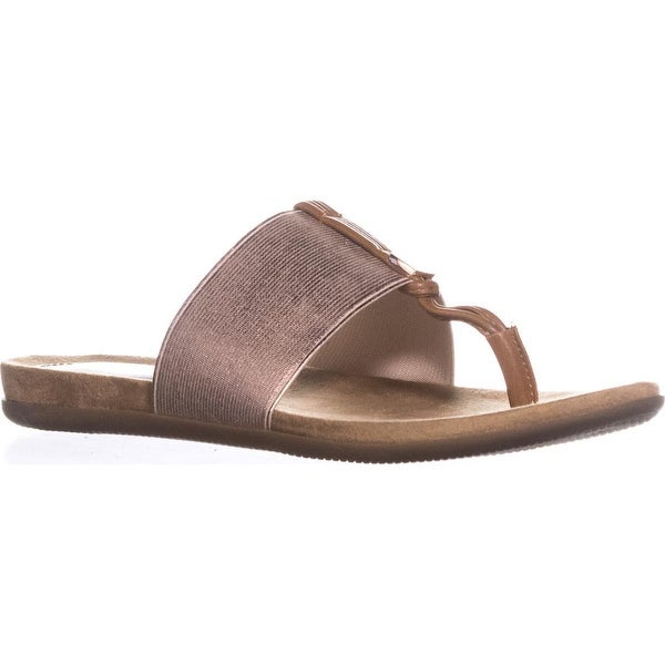 A35 Harr Flat Thong Sandals, Rose Gold - 5 us