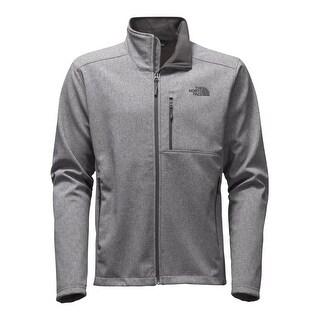 The North Face Gray Mens Size 2XL Fleece Full-Zip Mock-Neck Jacket