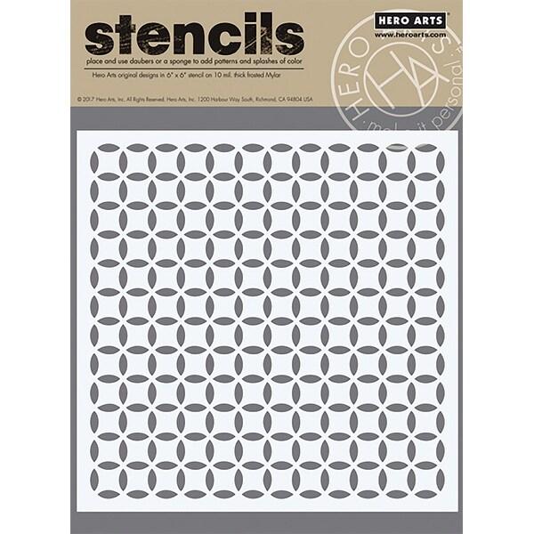 """Hero Arts Stencil 6""""X6""""-Pop Pattern"""