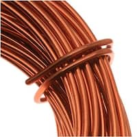 Beadsmith Copper German Bead Wire Craft Wire 26 Gauge/.4mm (20 Meters / 65.6 Feet)