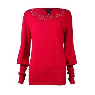 Alfani Women's Studded Neckline Sweater