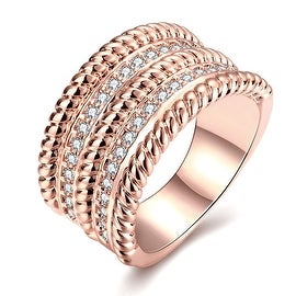 Rose Gold Trio- Layered Ring