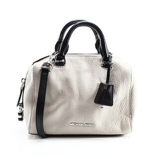 Michael Kors NEW Gray Cement Leather Kirby Mini Satchel Bag Purse