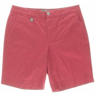L-RL Lauren Active Womens Twill Casual Bermuda Shorts