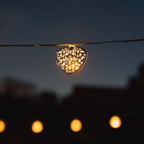 Solar Powered Decorative Metal LED String Lights