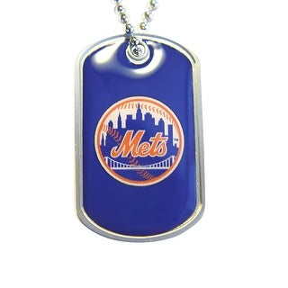 New York Mets Dog Tag Necklace Charm Chain