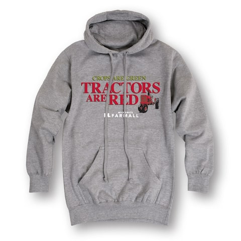 Crops Are Green Tractors Are Red - Men's Pullover Hoodie