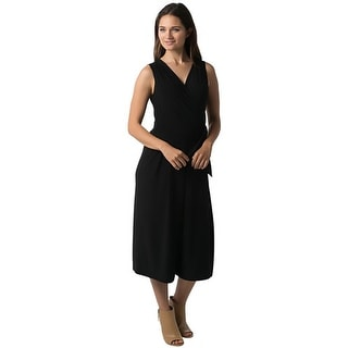 Tiana B. Womens Jumpsuit Sleeveless Surplice Neckline